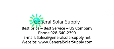 Pay for quote here General Solar Supply